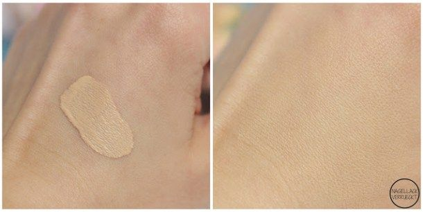 Maybelline Matte + Poreless Foundation 105 Natural Ivory Swatch drugstore