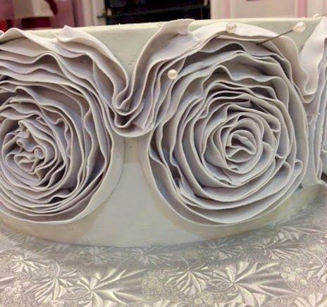 fondant ruffle rose cake tutorial