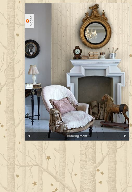 $153 Woods and Stars Whimsical by Cole & Son (buff & gold)