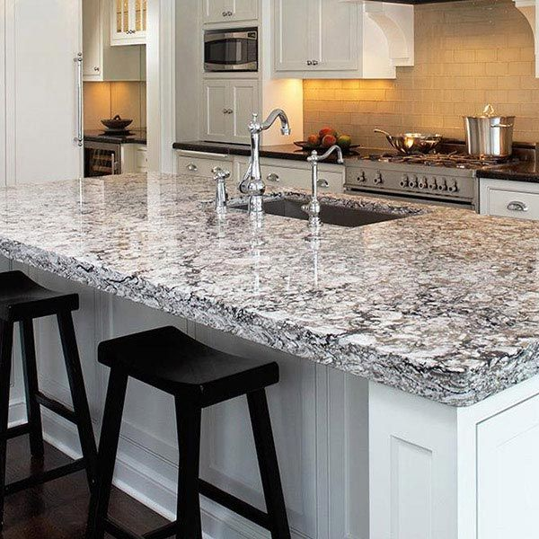 Cambria Countertops (style:bellingham) Looks Amazing In An All White  Kitchen With Dark Wood Floors
