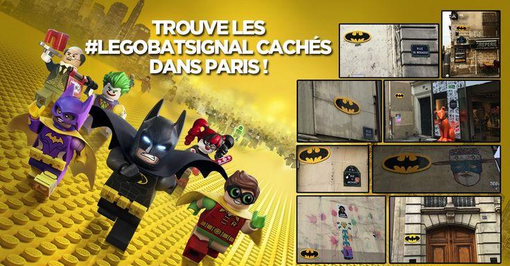 LEGO Batman El bati-señal invade las calles de París
