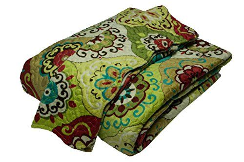 3 pcs Super Plush Quilt Set Queen & King Size (Quilt with Pillow Sham) in 5 different design (Green - P014-01, King) Everydayspecial http://www.amazon.com/dp/B00MR85R9W/ref=cm_sw_r_pi_dp_6T8eub1CG641Y