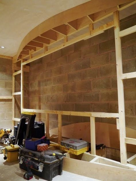 Small Home Theater Room Design: Home Theater Screen Wall Construction…More
