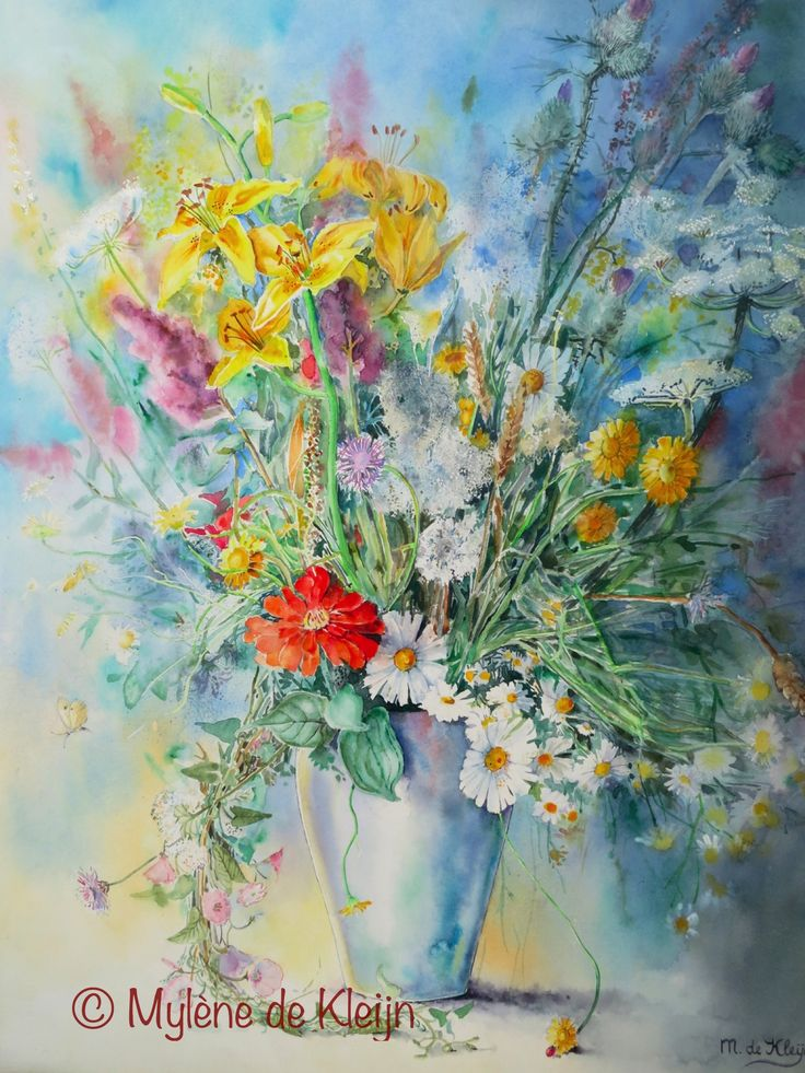 Wild flowers of the month July. 55 cm/ 75 cm