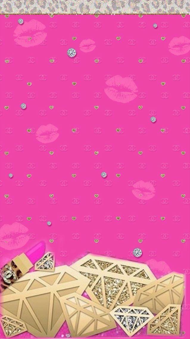 Best 25 diamond wallpaper ideas on pinterest diamond - Pink lips wallpaper ...