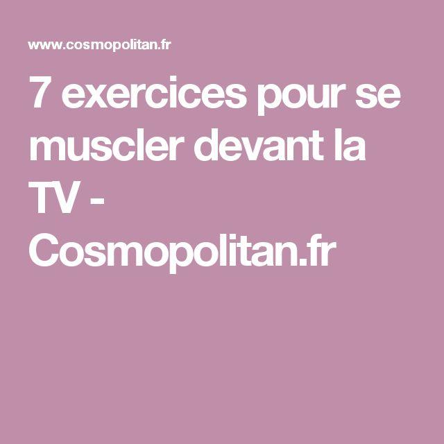 7 exercices pour se muscler devant la TV - Cosmopolitan.fr