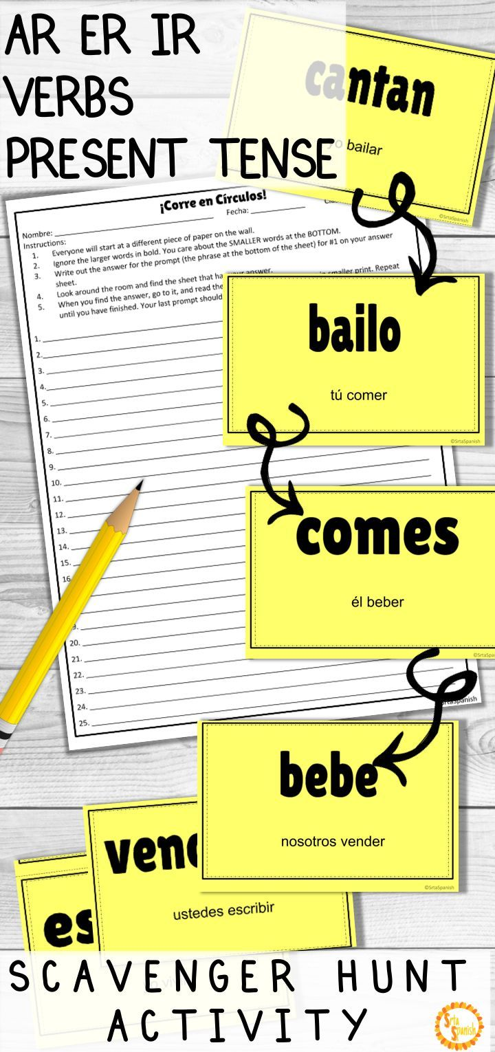 Looking For A Fun Game To Practice Regular Present Tense Ar Er Ir Verbs With Your Spanish Spanish Lesson Plans Spanish Teacher Resources Middle School Spanish [ 1530 x 720 Pixel ]