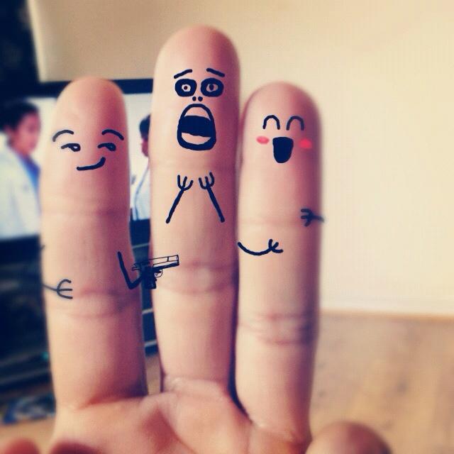 прикольные рисунки на пальцах фото нравится, когда девушка