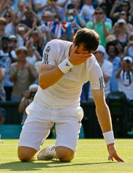 Murray was just so emotional when he won Wimbledon after trying for so long