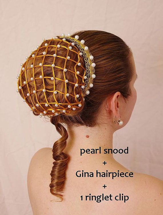 Renaissance pearl snood, hair net - also suitable for wedding, prom, victorian, medieval or party costume