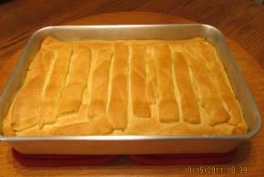 Chicken Pot Pie w/ crescent roll topping