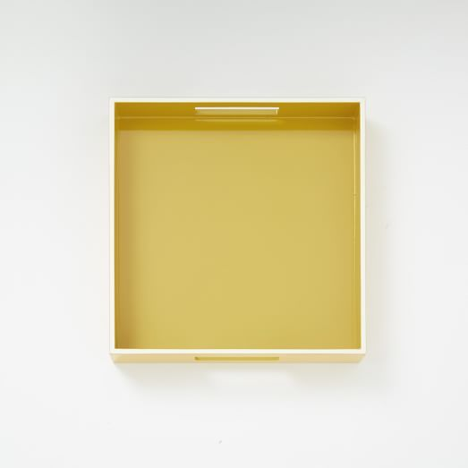 White Rim Lacquer Trays - Square | west elm