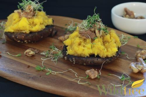 Wildtree's Roasted Acorn Squash Stuffed Portabellas Recipe http://www ...