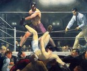 Dempsey And Firpo Aka Brodies Revenge  by George Wesley Bellows