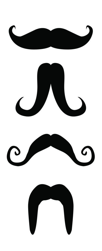 This is how the men looked~     Printable Mustaches-  *attach to popsicle stick/drinking straw