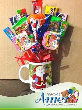 Resultado de imagen para arreglos con dulces navideños