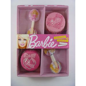 A069421 - Barbie Cupcake Decorating Kit. Barbie Cupcake Decorating Kit (24 Cupcake Cases & Picks) Please note: approx. 14 day delivery time.