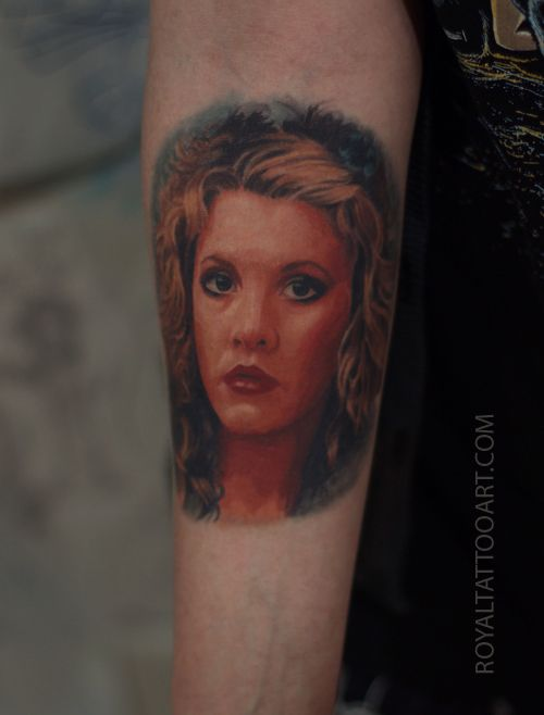 Stevie nicks color arm portrait tattoo realism for Best tattoo artists in brooklyn