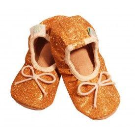 Alex & Ant Gold Sparkle Ballet Shoes