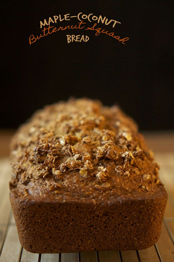 Maple Coconut Butternut Squash Bread #recipe - A taste of #fall without the #pumpkin via @ExSloth | ExSloth.com