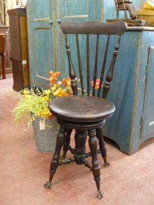 banc de piano antique avec dossier chambre d 39 lo se pinterest banc de piano piano et bancs. Black Bedroom Furniture Sets. Home Design Ideas