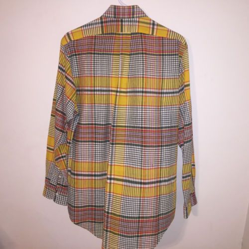 MINT-MENS-PAPER-THIN-MADRAS-YELLOW-POLO-RALPH-LAUREN-PLAID-CHECKS