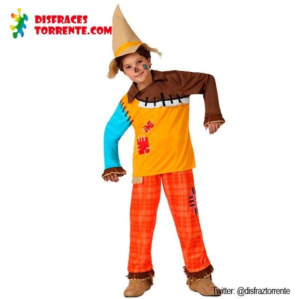 Colorido y muy molón este disfraz de espantapájaros del cuento del Mago de Oz. Y acompáñate del Hombre de Hojalata, Dorothy, el León, etc......