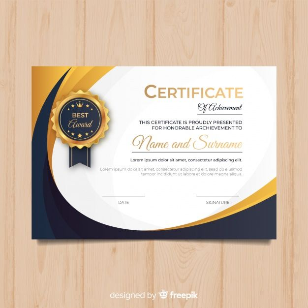 Download Creative Diploma Template With Golden Elements