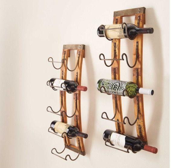 Hanging Wine Rack Towel Racks For Bathroom Wall Mounted Metal Wood Rustic One #Generic