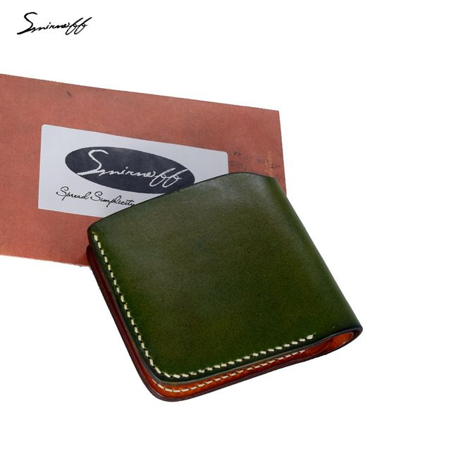 Check lastest price SMIRNOFF 2017 Vegetable Tanned Leather Wallet Men Luxury Custom Name Pure Hand Stitch Short Purse Simple Wallet Card just only $33.20 with free shipping worldwide  #womanwallets Plese click on picture to see our special price for you