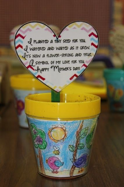 Mother's Day Craft with poem for mom