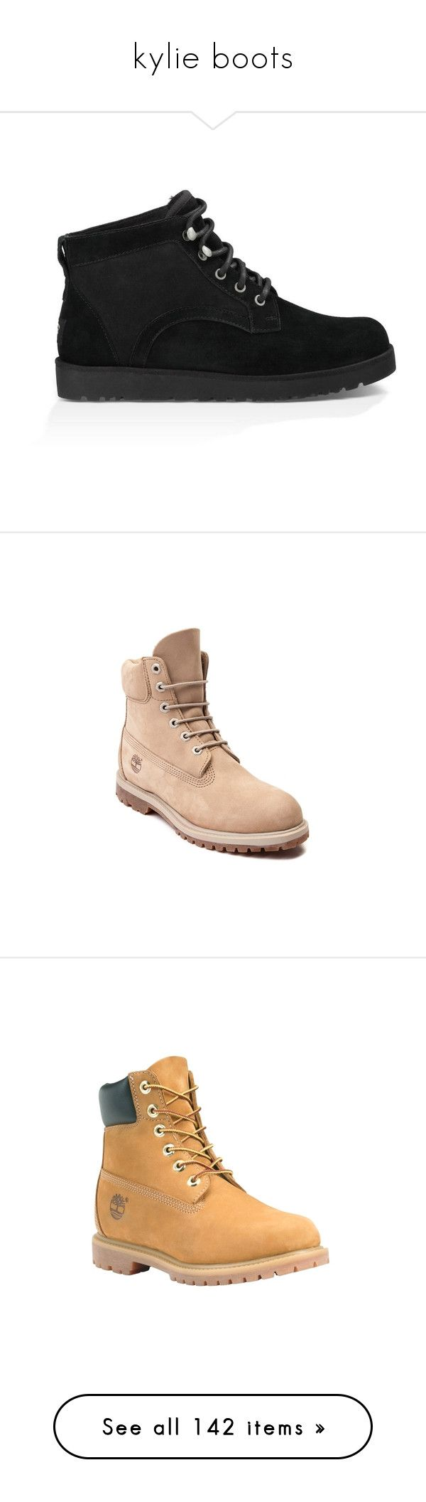 """""""kylie boots"""" by marilia13 ❤ liked on Polyvore featuring shoes, boots, sheeps boots, light weight shoes, sheepskin shoes, slim shoes, ugg australia boots, timberland shoes, timberland boots and timberland footwear"""