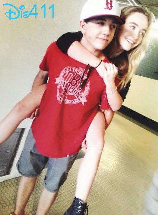 Sabrina Carpenter got a piggyback ride from Bradley Steven Perry on August 10, 2014