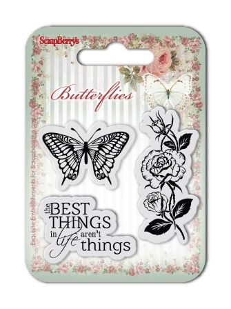 ScrapBerry's: Set of clear stamps (7*7cm) Butterflies – The Best Things