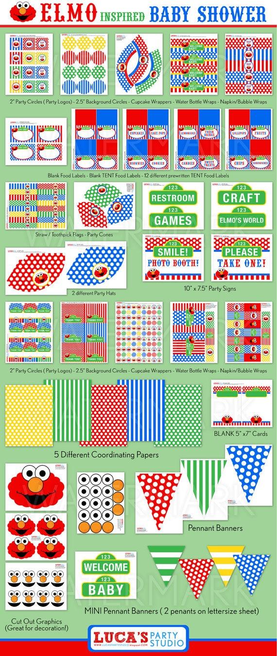 DIY PRINTABLES · Elmo Sesame StreetSesame ...