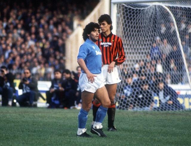 #Maradona #Maldini #calcio #napoli #milan