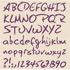 Alphabet à broder CL000 Fiche point de croix de Lilipoints