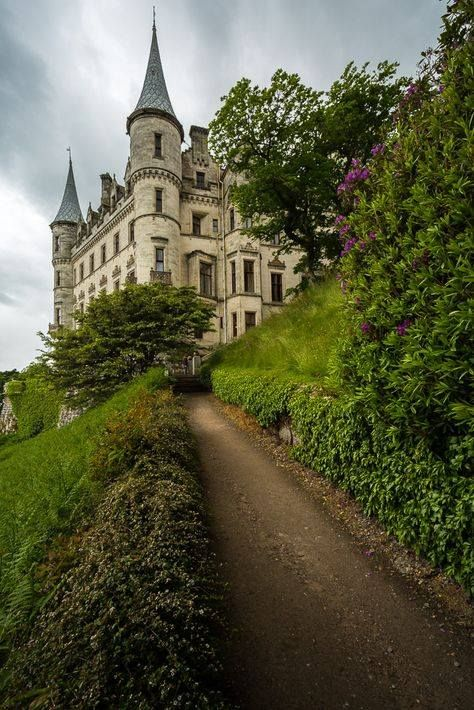 Dunrobin Castle up the hill