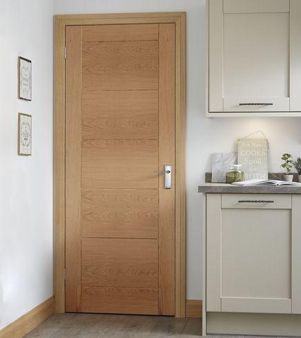 Pre-finished Linear Oak door