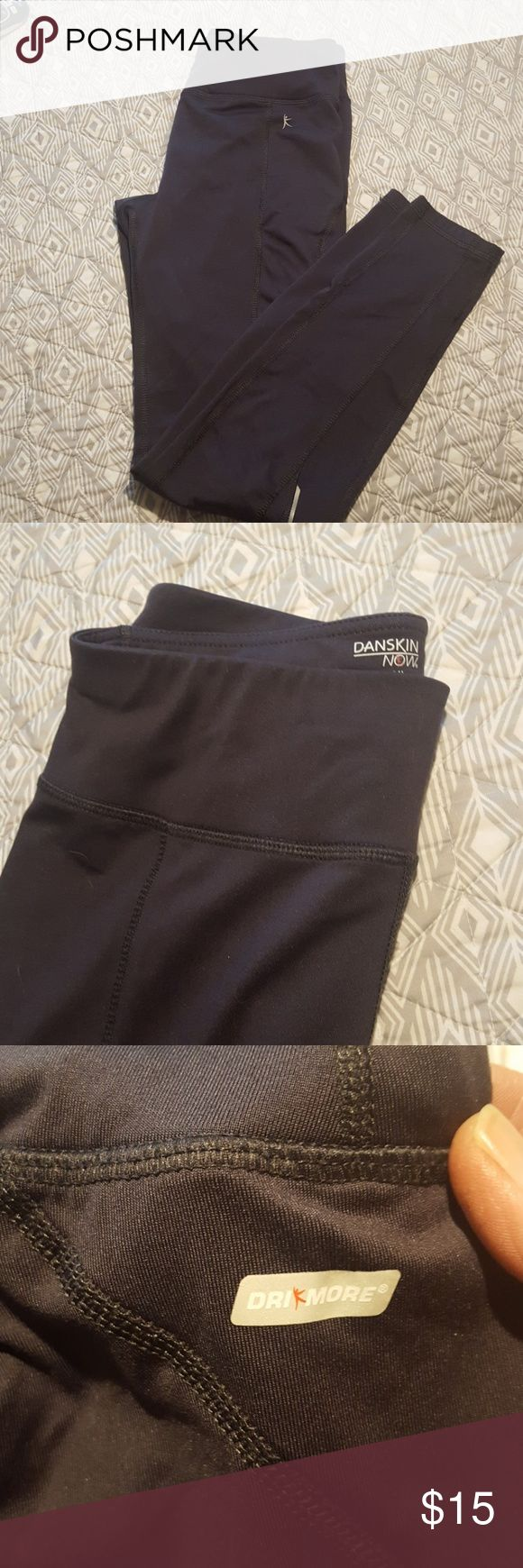 Danskin skinny jogger pants These EUC skinny joggers are so easy to slip on and run to the gym,or lounge with your favorite sweatshirt. They have a hidden pocket on the inside to stash your cash!!! Dark grey kind of shiny look. Danskin Pants Track Pants & Joggers