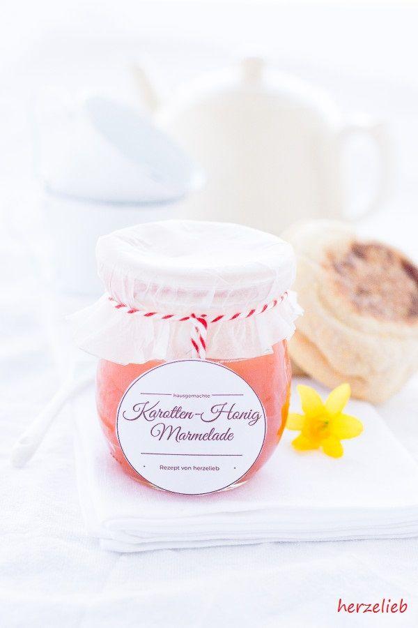 Karotten-Honig-Marmelade nach diesem Rezept von herzelieb
