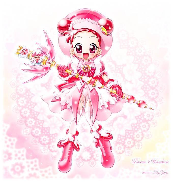 Tags: Anime, Ojamajo DoReMi, Harukaze Doremi, Hair Buns, Twin Buns, Small Breasts, DoDo (Ojamajo DoReMi)