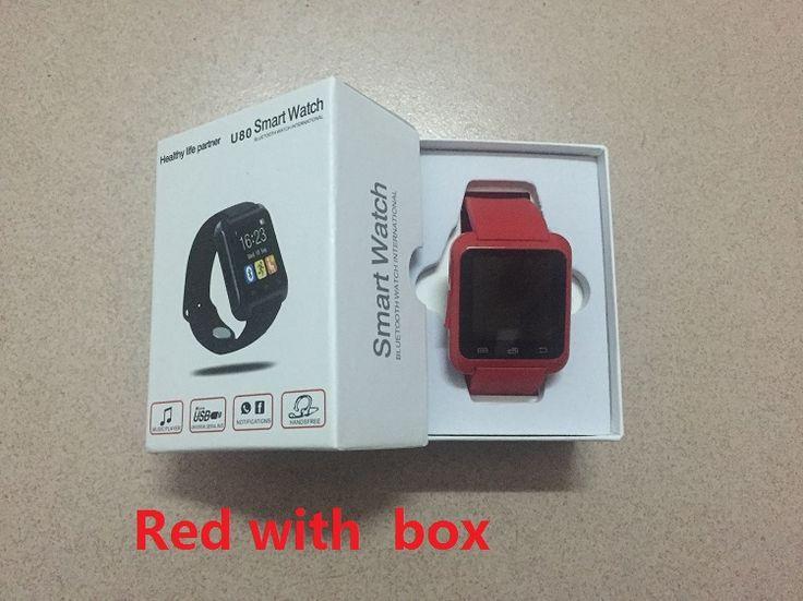 Smartwatch Bluetooth Smart Uhr U80 für iPhone IOS Android Smartphone Tragen Uhr Tragbares Gerät Smartwach PK U8 GT08 DZ09 //Price: $US $11.28 & FREE Shipping //     #meinesmartuhrende