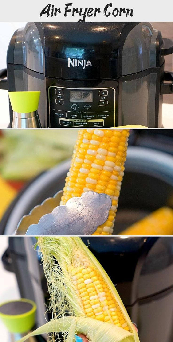 Air fryer corn on the cob fresh or frozen is cooked to