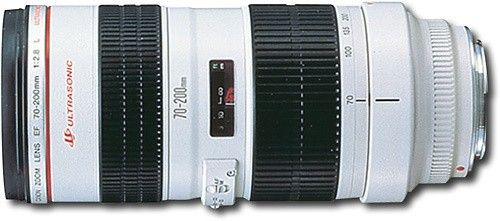 Canon - EF 70-200mm f/2.8L USM Telephoto Zoom Lens - White - Larger Front