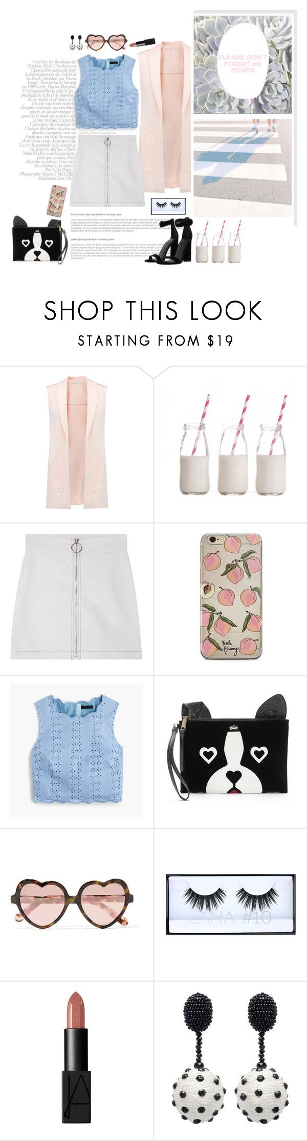"""""""👼"""" by emyemoemu ❤ liked on Polyvore featuring Rebecca Minkoff, Dress My Cupcake, J.Crew, Juicy Couture, Cutler and Gross, Huda Beauty, NARS Cosmetics, Oscar de la Renta and Kendall + Kylie"""