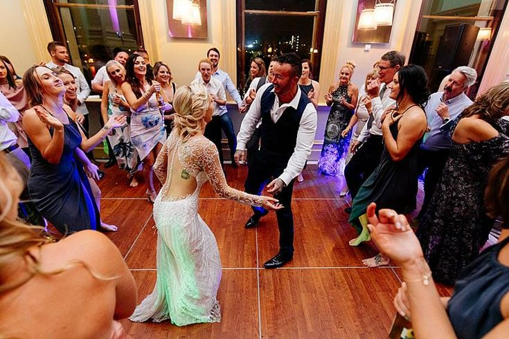 Customs House Wedding DJ - FUN Wedding Reception Dancing Bride and Groom | G&M Event Group with #DJBenShipway #GMDifference #FUN #Dancing #Bride #Groom | IMG by Evernew Studio
