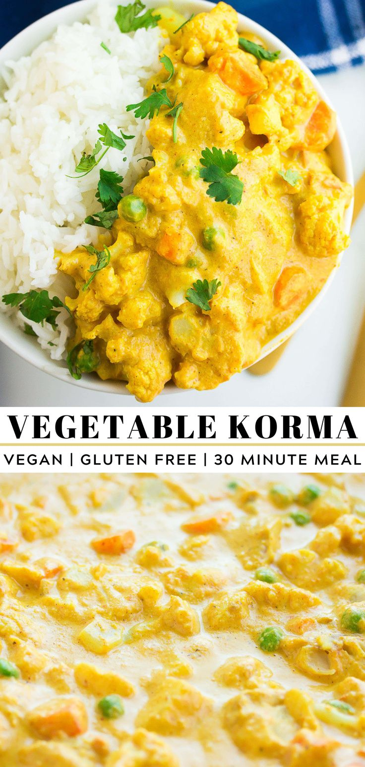 This Quick and Easy Indian Vegetable Korma is crea…