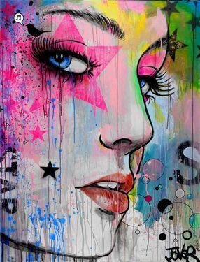 "Saatchi Art Artist Loui Jover; Painting, ""bright star (CANVAS)"" #art"