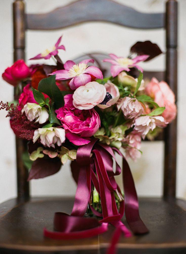 Berry Toned Fall Barr Mansion Wedding // Florals by The Nouveau Romantics // Austin Wedding Planning and Event Design Studio #bridalbouquet #gardenrose #fallwedding